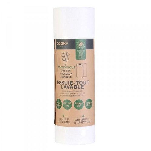 Essuie-tout réutilisable en bambou