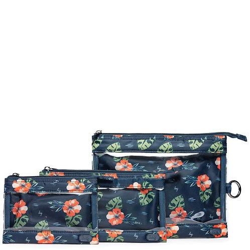 Ensemble de 3 pochettes de transport Lug - Aloha navy