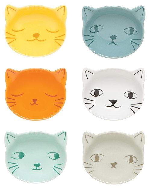 Ensemble de 6 coupelles à épices Now Designs chat