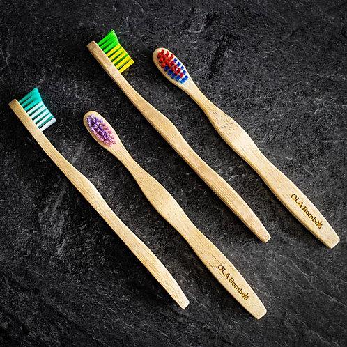 Brosse à dents pour adulte en bambou OLA Bamboo
