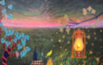 'A Diabolical Light'_Acrylic and Oil on