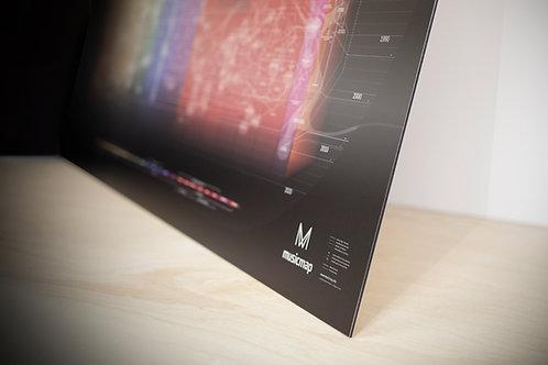 Musicmap Metal Alu Print Medium View