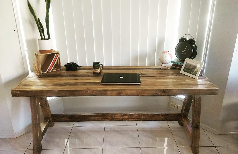 Long study desk