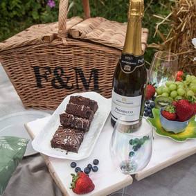 close up picnic table