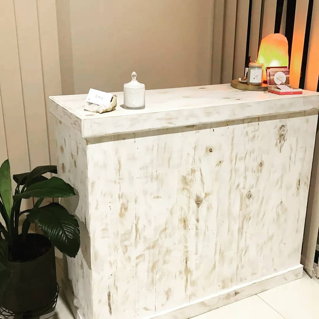 whitewash reception Desk