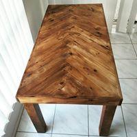 Herringbone style Dining table