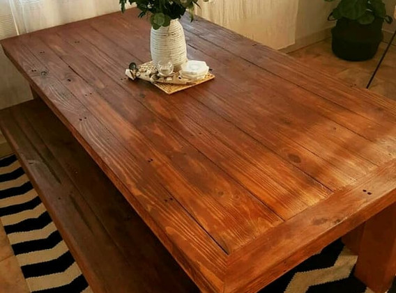 Classic Dining Table with Bench seats