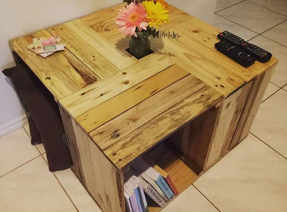 Crate wooden table