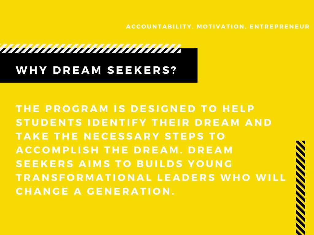 Why Dream Seekers?