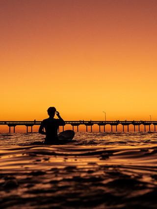 Sunset on Ocean Beach, San Diego, California, USA