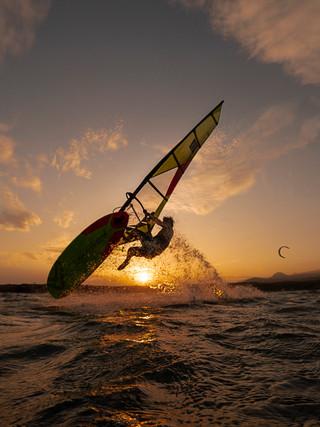 Dieter Van der Eyken, professional Wind surfer, Tenerife. Spain