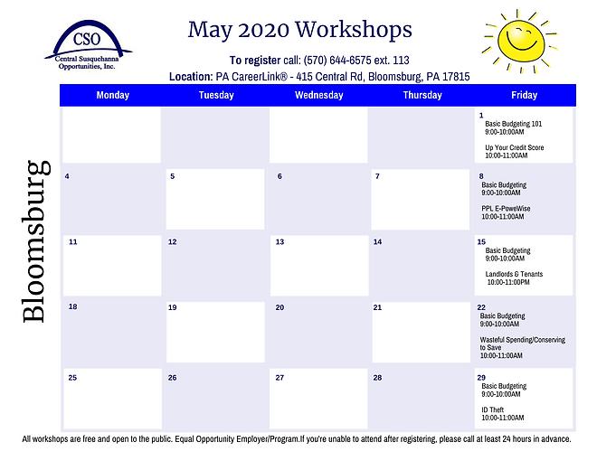 Calendar-CAA Bloomsburg May 2020.png