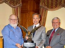 Mr. Ed Morales, Speaker Joe Straus, Club President Fred Solis