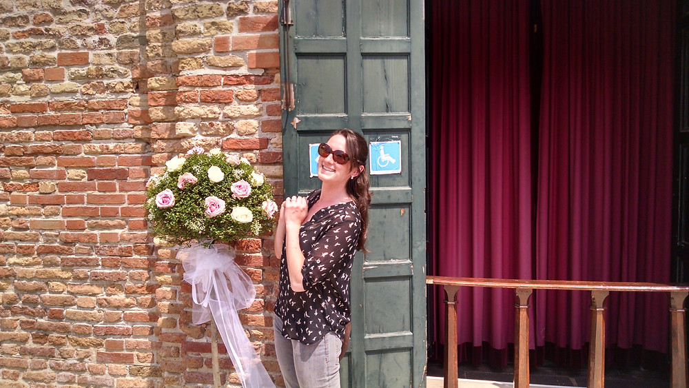 We almost crashed a wedding on Murano, but we were just a little too late. I posed with the decor anyway.