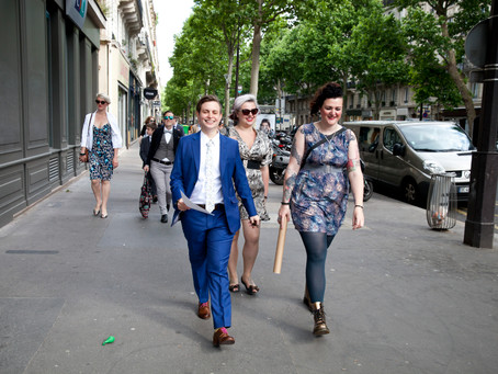 Sur le Boulevard Voltaire