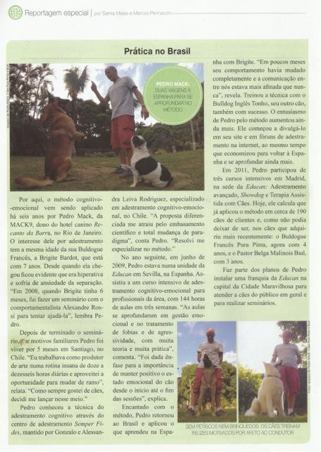 Matéria Revista Cães&Cia nº435