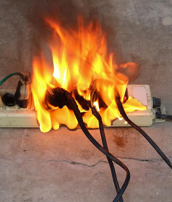 """תחילת שריפה עקב עלית טמ""""פ הנובעת ממגע רע"""