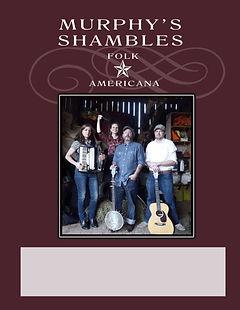 murphy's shambles americana music red poster