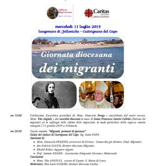 31 luglio, mons. Perego in Salento per la Giornata dei migranti