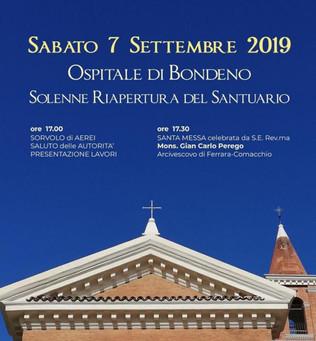 7 settembre, riapre il Santuario della Madonna della Pioppa