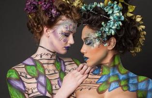 Photographer: Eric Dawson Models: Lauren Crosier, Maikele Raines  Hair: Cassandra Radford Makeup/Body Paint: Rachel Madison