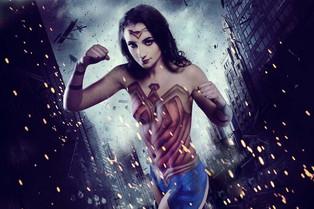 Wonder Woman Body Paint Shoot