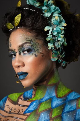 Photographer: Eric Dawson Model: Maikele Raines  Hair: Cassandra Radford Makeup/Body Paint: Rachel Madison