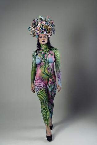 Photographer: Sherman Orendorf  Model: Jacqueline Sobtoka Headpiece: Katy Newton Makeup/Hair/Body Paint: Rachel Madison