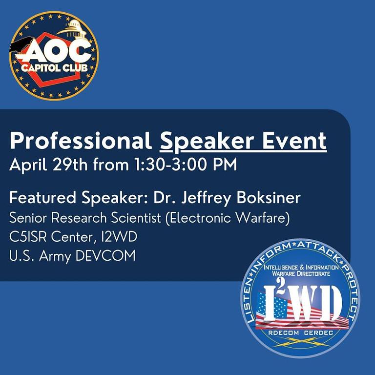 Virtual Speaker Event - Dr. Jeffrey Boksiner