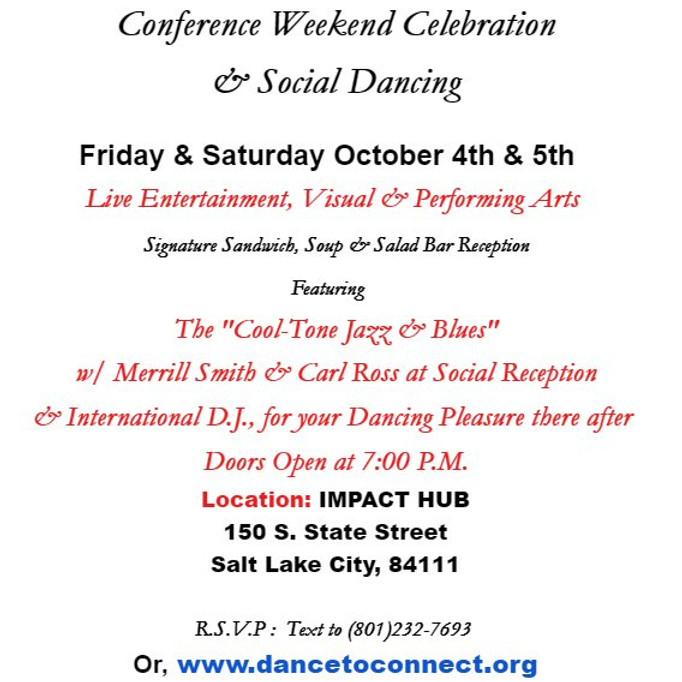 Conference Weekend Celebration & Social Dancing