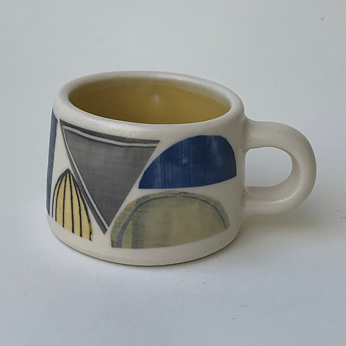 Yellow Abstract Espresso Cup