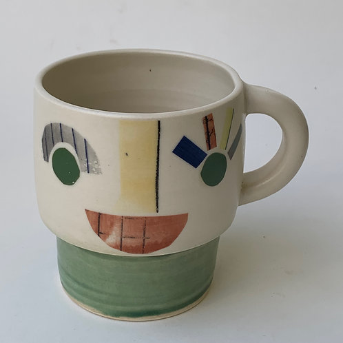Green Face Mug