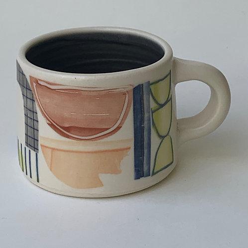 Short Grey Abstract Mug