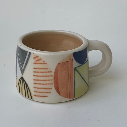 Peach Abstract Espresso Mug