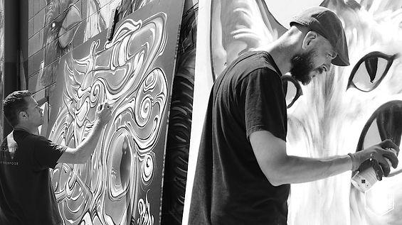 Apeseven. Phibbs. Kayapa Creative Studio. Brick It Up. Street Art. Art. Exhibition. Northern Beaches. Sydney.