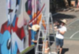 DYPS Mural, School, inspiration, M-Lon, James Cooper,