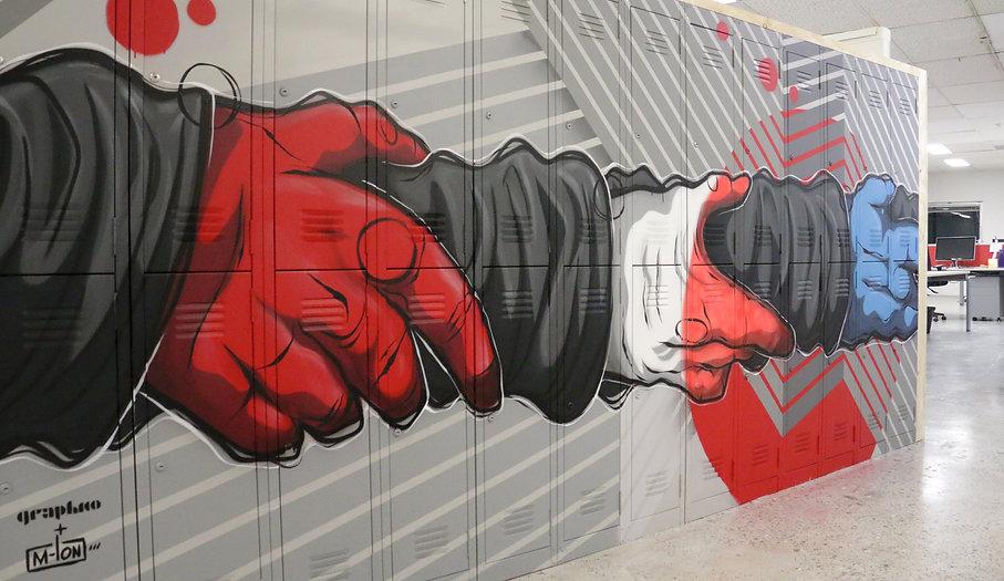 ROKT. Sydney. Lockers. Murals. Graphico. M-Lon. Kayapa Creative Studio