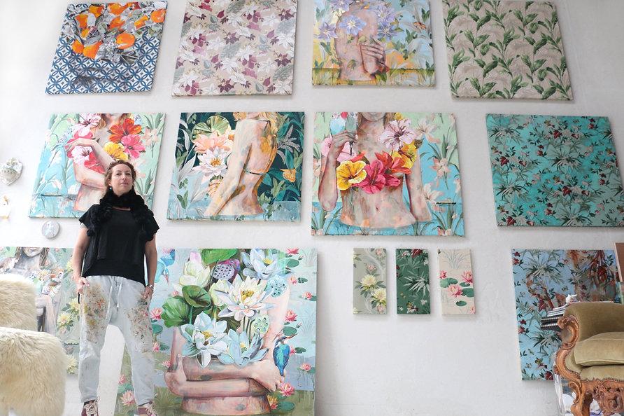 artist, Sydney artist, Northern Beaches, artist studio, artist process, Jessica Watts, flowers, nature,