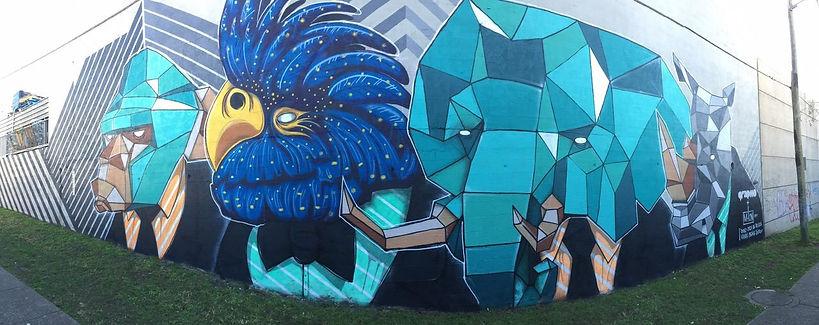 Kayapa Creative Studio. M-Lon. Mona Vale. Street Art. Mural. Nothern Beaches. Sydney. Graphico. Sydney Street Art Project. Live Painting. Community.