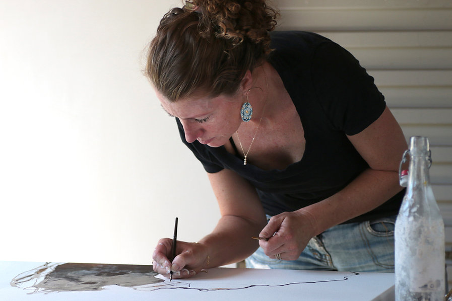 Fiona Chandler. Artist. Sydney Road Gallery.