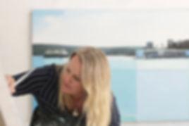 Amanda Tye. Sydney artist. Landscapes. Artist Studio