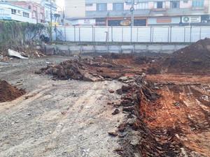 Av. Armando de Salles Oliveira - Limpeza de terreno e escavação mecanizada