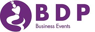 BDP Business Events logo og navnetraek C