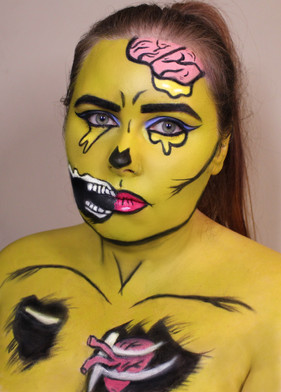 Pop Art Zombie - Body Paint
