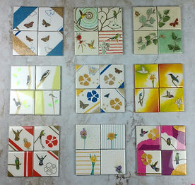 White Fawn coaster sets