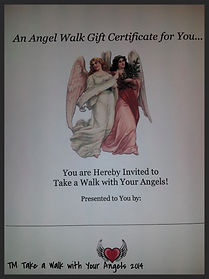 Jeannie Blaha, To Purchase, Angel Gift Certificate, Gift Certificate, Angel Walk, Angel Talk, Angel Email