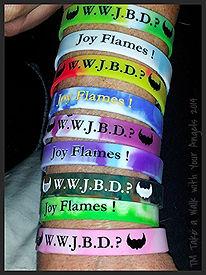 Jeannie Blaha, Joy Flames, Wristbands, Joy Flames Wristbands, Purchase Joy Flames Wristbands