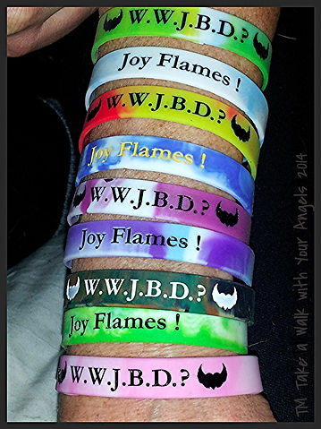 Jeannie Blaha, Wristbands, Joy Flames, Angel Lady, Take a Walk with Your Angels, Walk with Your Angels