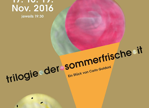 """DVD 2016 Goldoni """"Trilogie der Sommerfrische"""""""