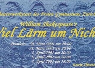 """DVD 2001 Shakespeare """"Viel Lärm um Nichts"""""""